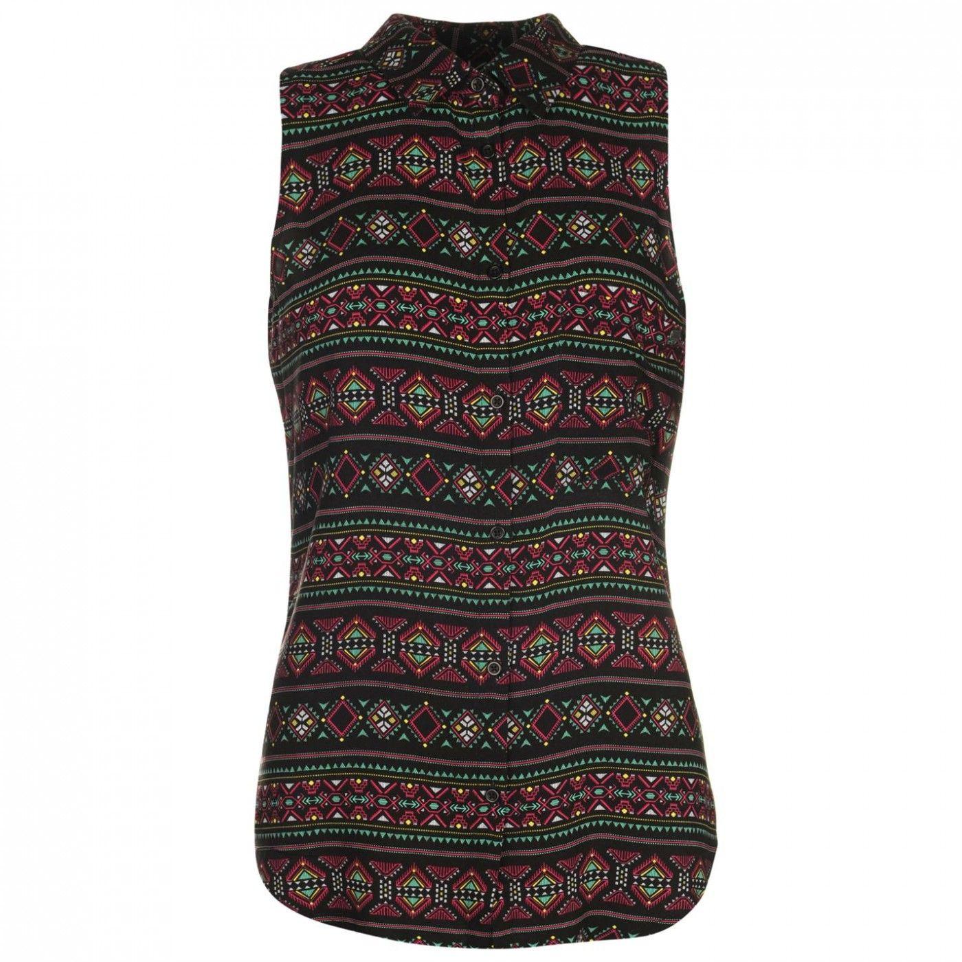 Lee Cooper - All Over Pattern Sleeveless Shirt Womens