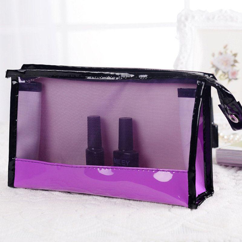 Fashion Cosmetic Makeup Bags Transpa Handbag See Through Stroge Bag