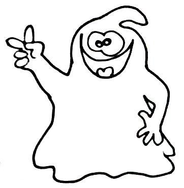 Halloween ausmalbilder geister - Ausmalbilder für kinder