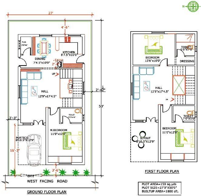 Floor plan mansani constructions pvt ltd laxmi ganapathi for 50 yards house design