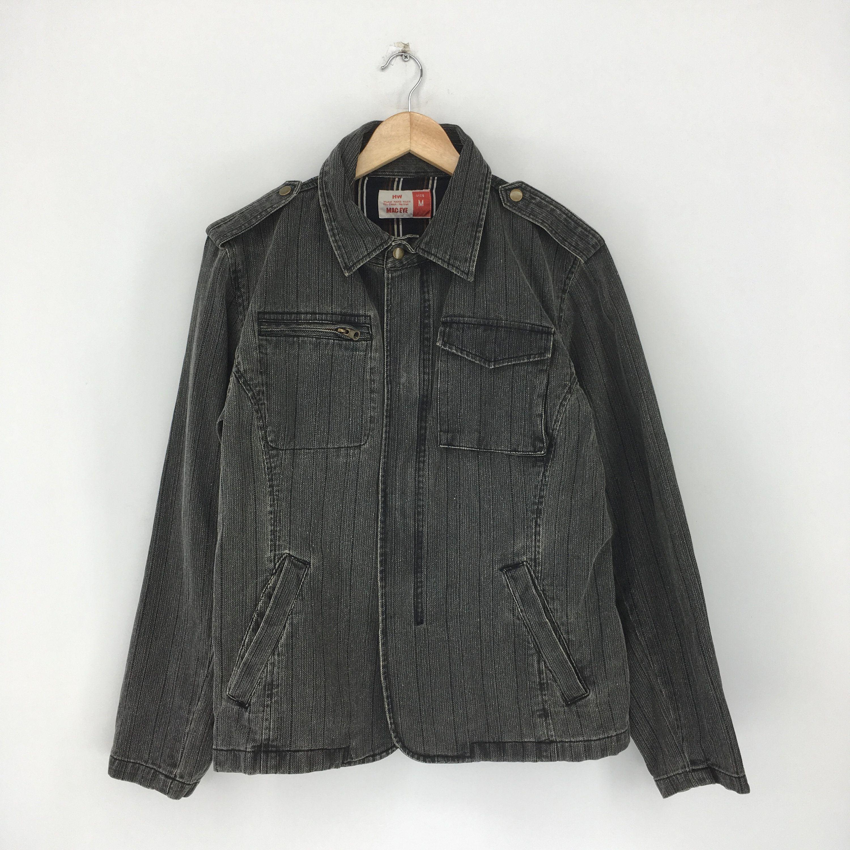 Vintage Denim Jeans Jacket Medium 1990 S Union Made Denim Casual Hipster Jeans Jacket Distressed Jeans Vintage Denim Jacket Stylish Jackets Black Denim Jacket [ 3000 x 3000 Pixel ]