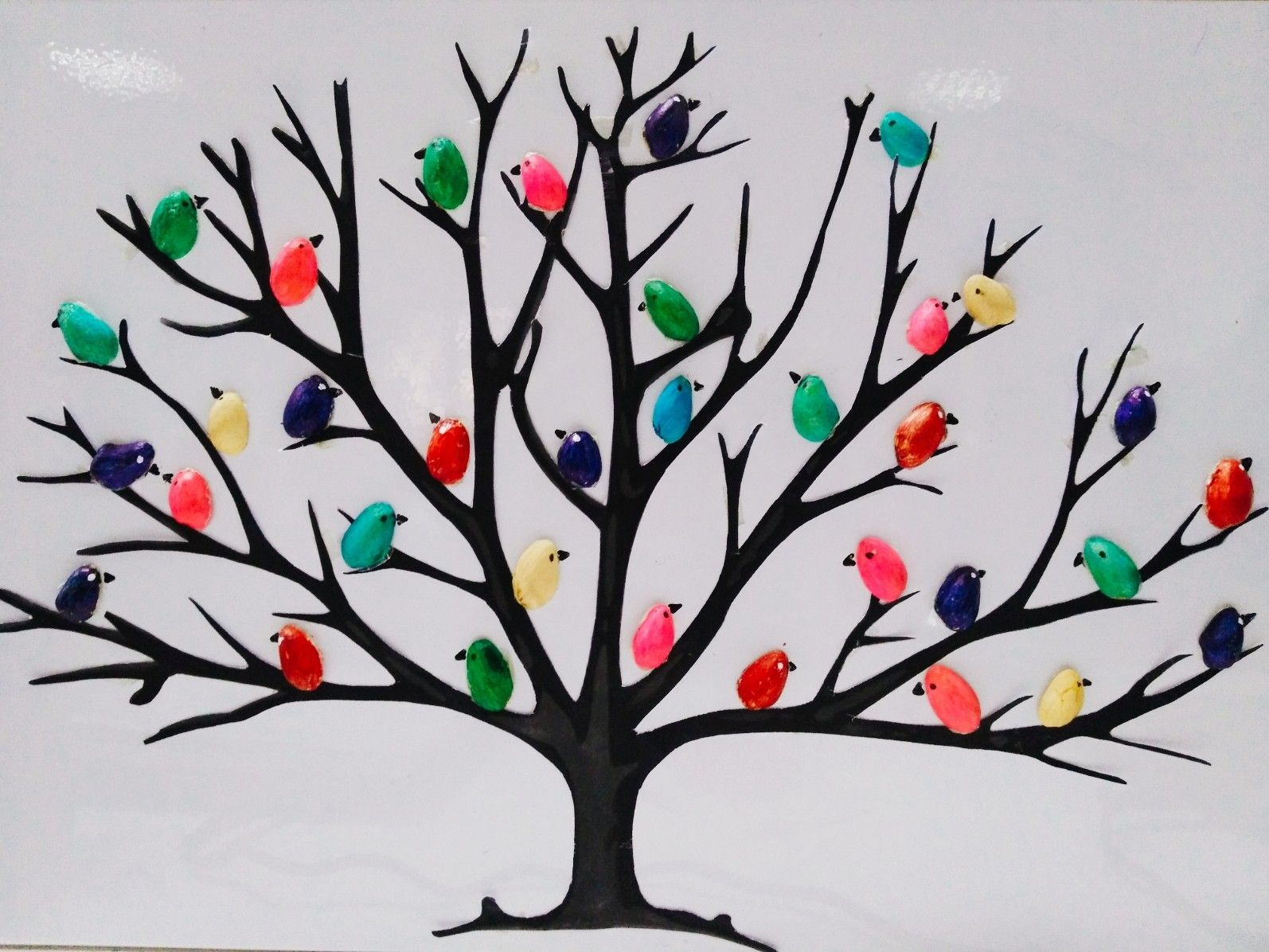 Pistachio Shells Birds On Tree Diy Room Decorations Free Time