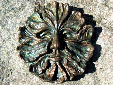 Charming Greenman, Green Man, Stone Sculpture, Greenman Plaque, Lg. Greenman Garden  Art, Garden And Yard Art, Medieval Art Decor, Myth And Magick
