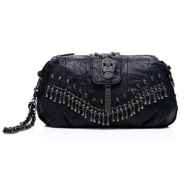 f7fff7f75ac iPinee New 2017 Famous Designer Brand Bags Women Genuine Leather Handbags  Skull Rivet Bag