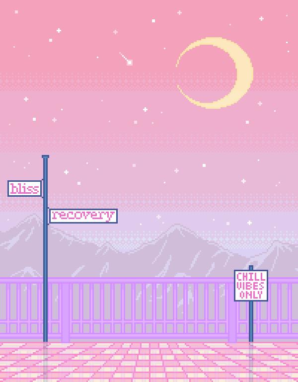 Aesthetic Purple Pixel Wallpaper