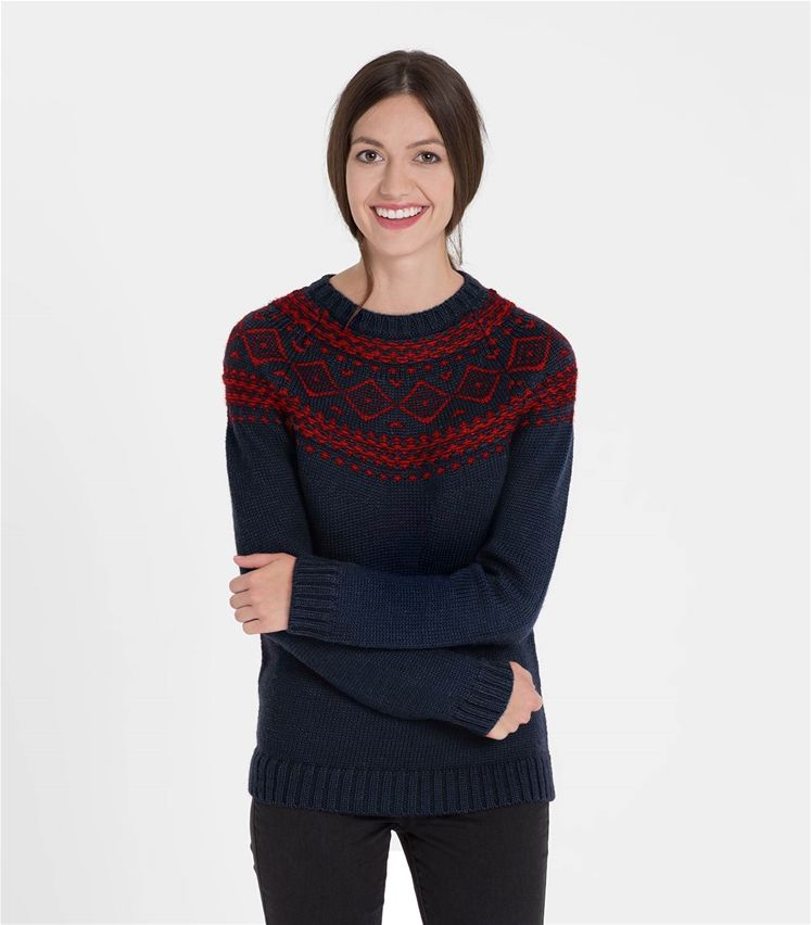 Womens Pure Wool Chunky Fair Isle Jumper | Best of - Autumn/Winter ...