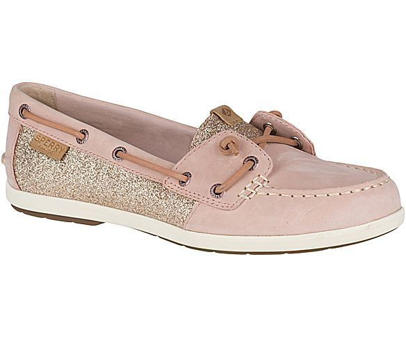 b2e3fd3b34 Sperry Top-Sider Women s Coil Ivy Sparkle Boat Shoe Women s Coil Ivy  Sparkle Boat Shoe. Love my rose gold shoes.