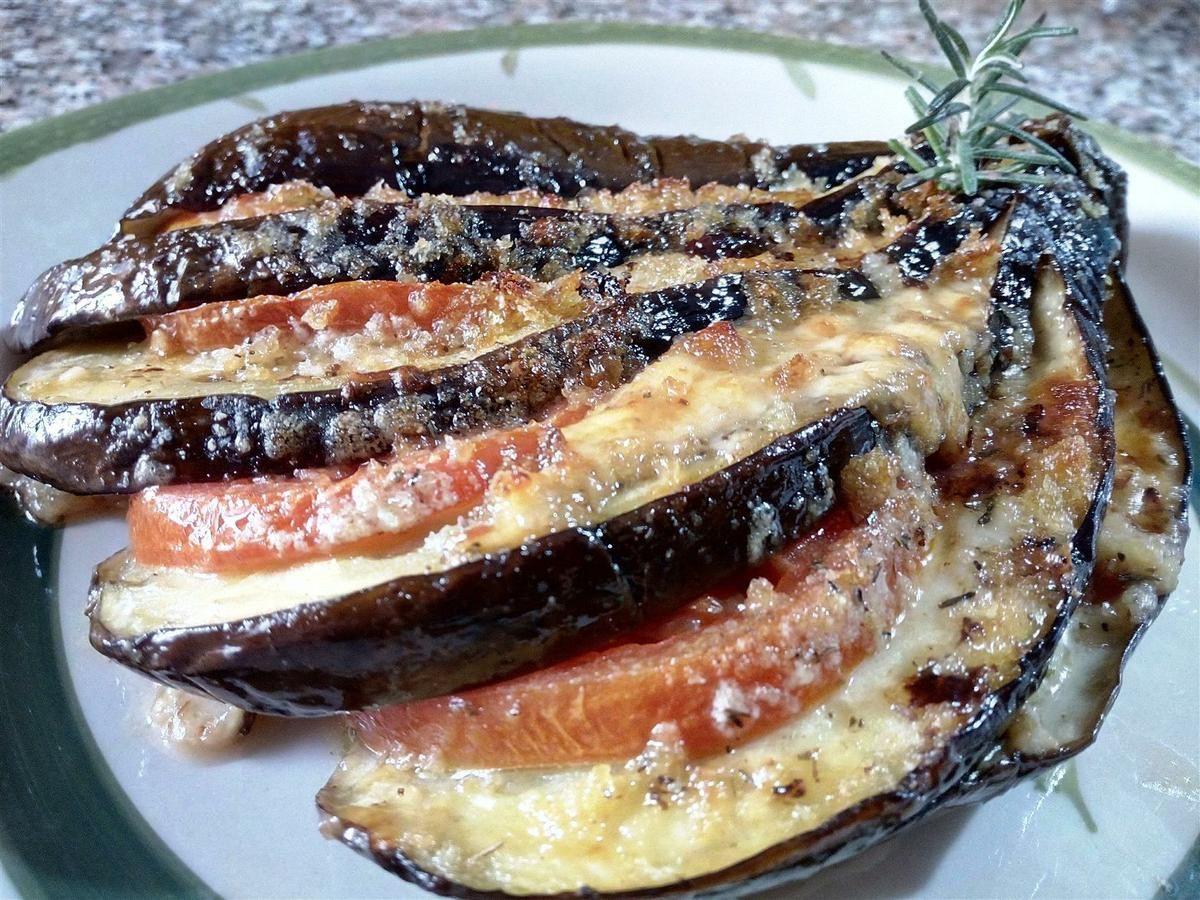 Berenjenas Al Horno Con Tomate Y Mozzarella Berenjena Al Horno Recetas Con Berenjenas Recetas Para Cocinar