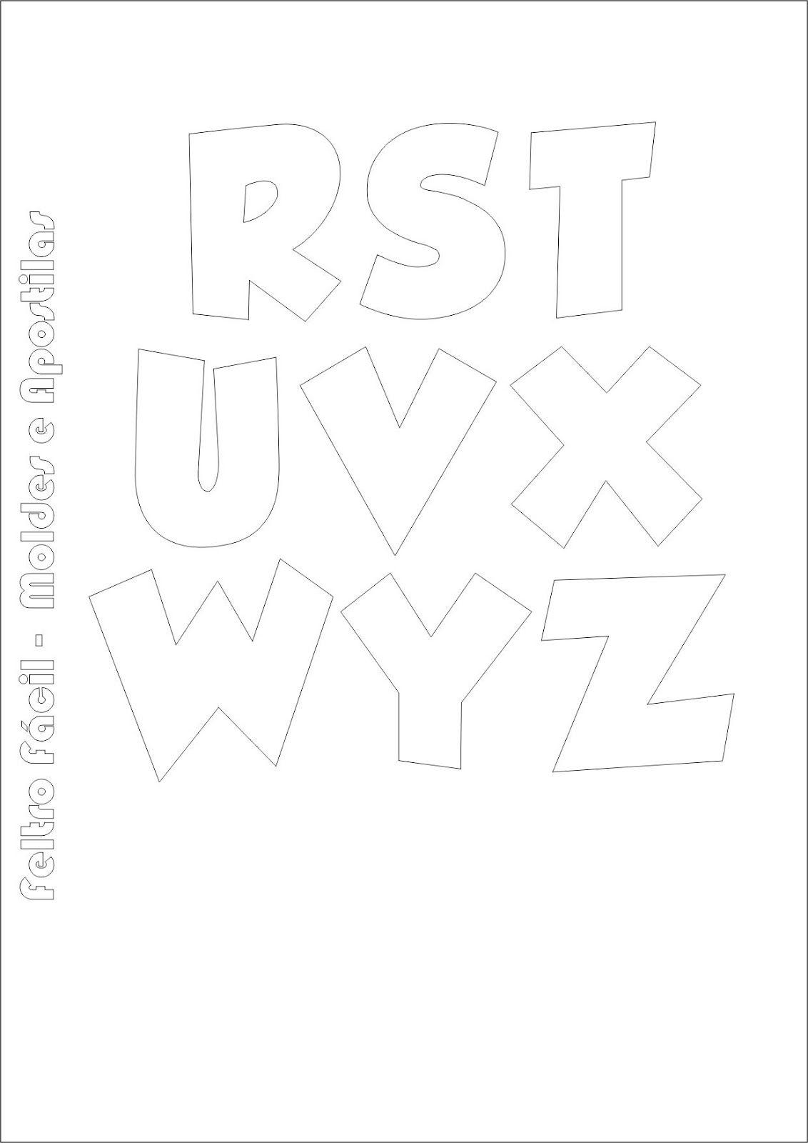 Cartamodelli Alfabeto Per Feltro E Pannolenci Alfabeto Stencil Alfabeto Feltro