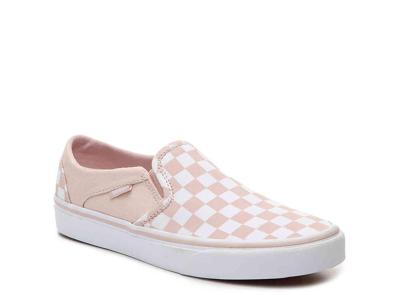 2578f5d902 Asher Checkered Slip-On Sneaker - Women s light pink white