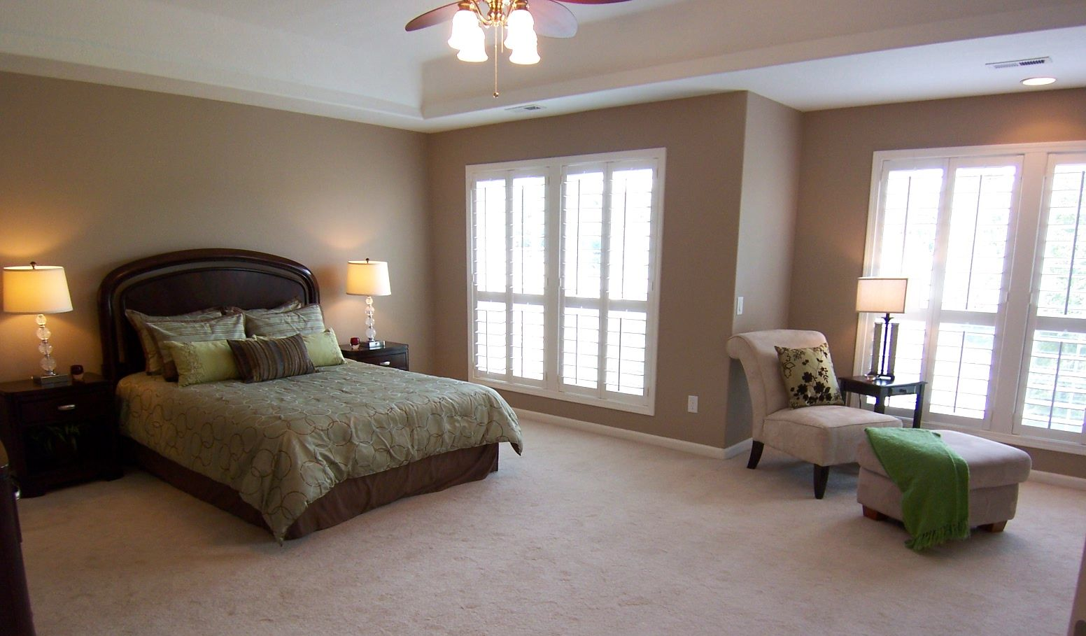 In a large master bedroom it's nice to show another area