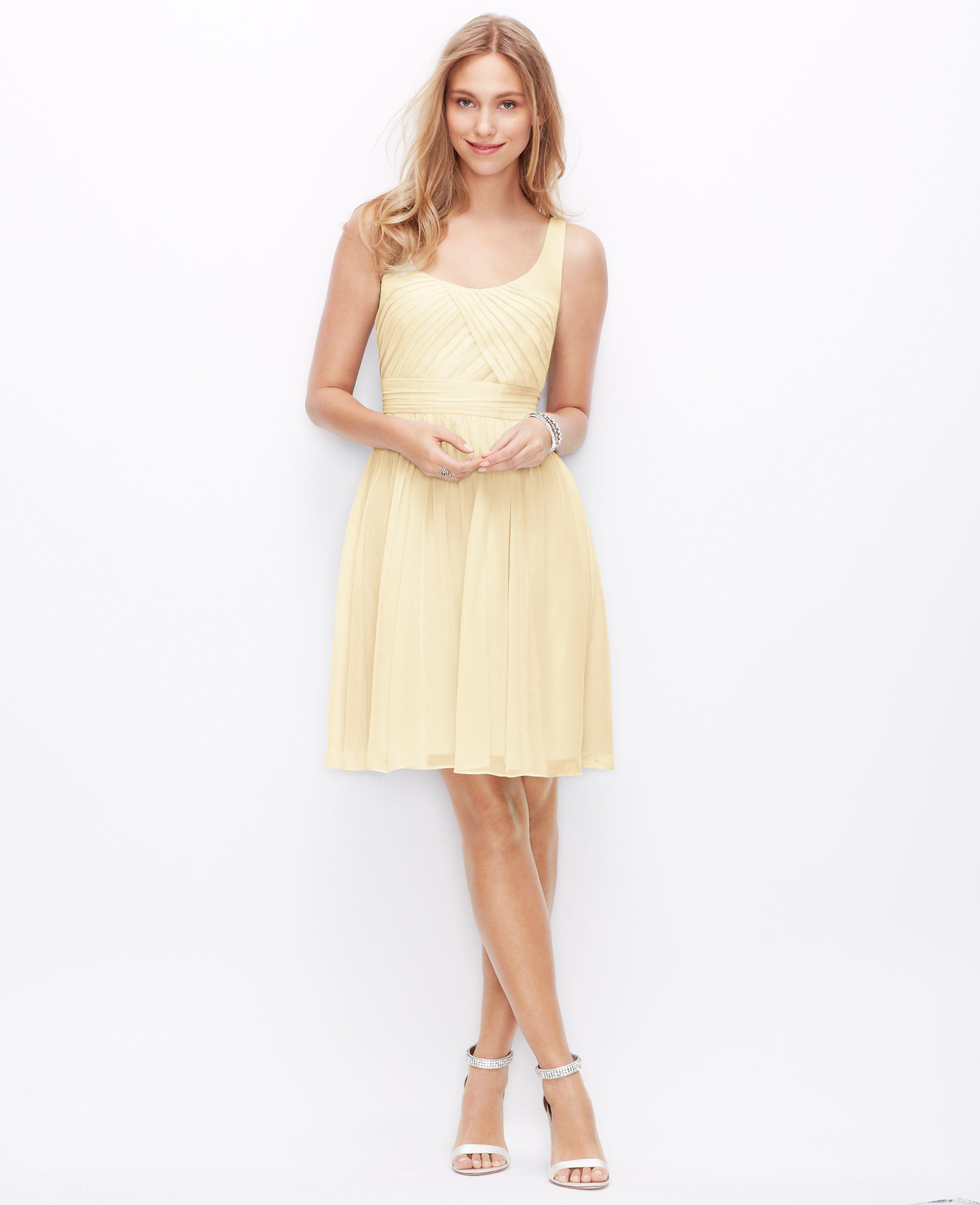 Women\'s Yellow Silk Georgette Sleeveless Dress | Mauve color, Mauve ...