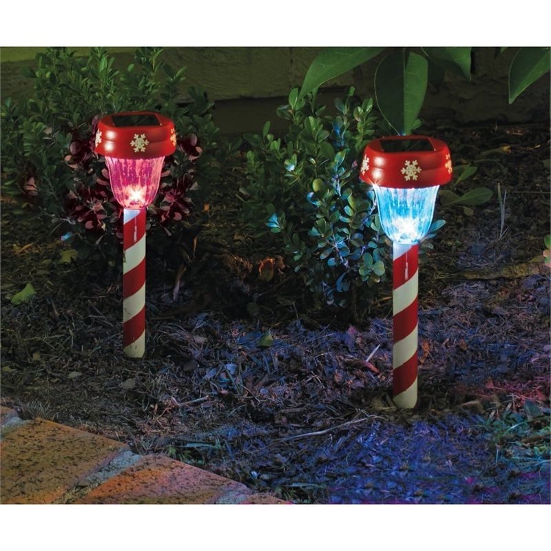 Lytworx 26cm Candy Stripe Solar Path Light 22518 Bunnings Warehouse Only 26cm Maybe For Th Solar Christmas Lights Solar Path Lights Outdoor Hanging Lights