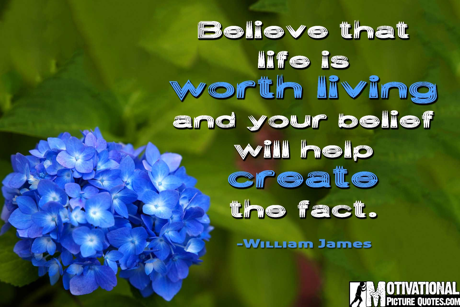 inspiring quotes about positive thinking by William James