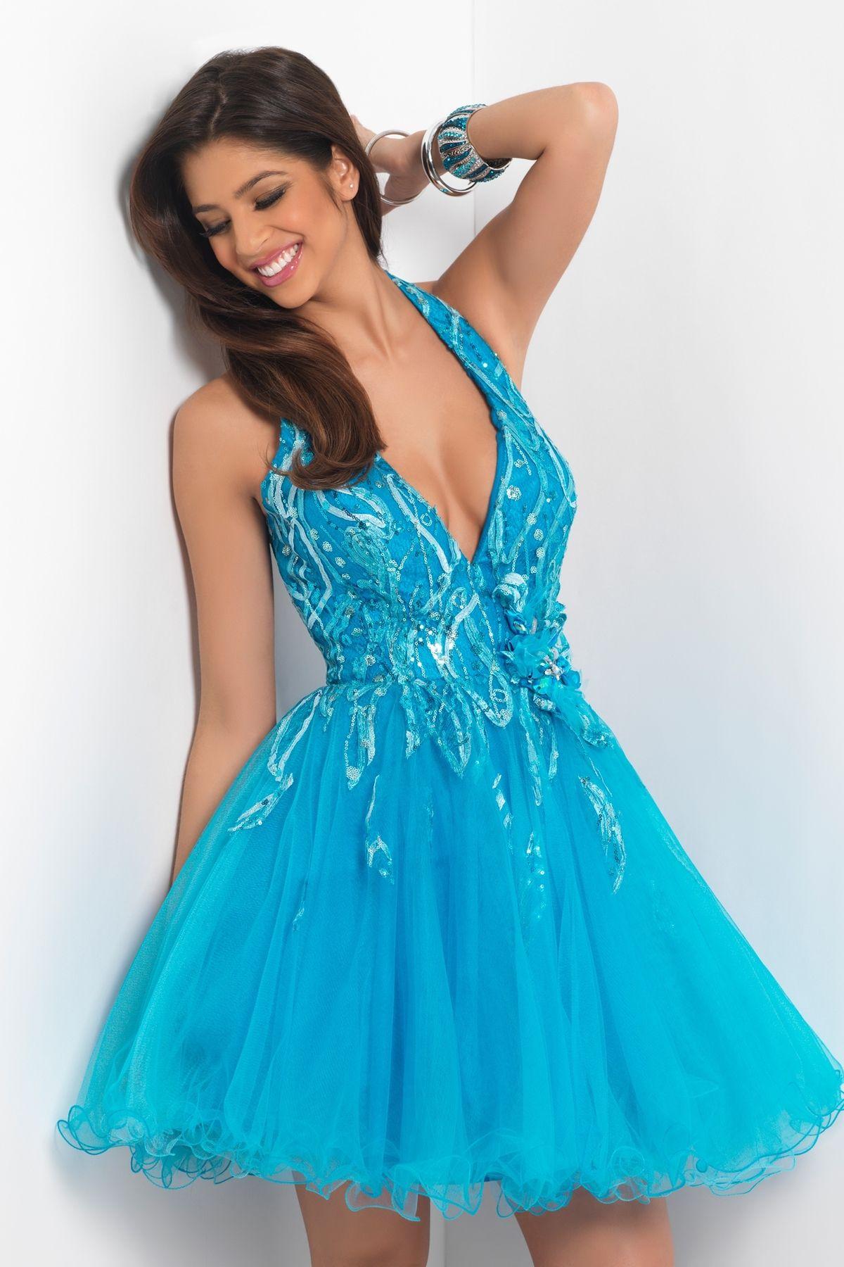 prom dress cheap dresses sexy short halter top neck ... | Trissy ...