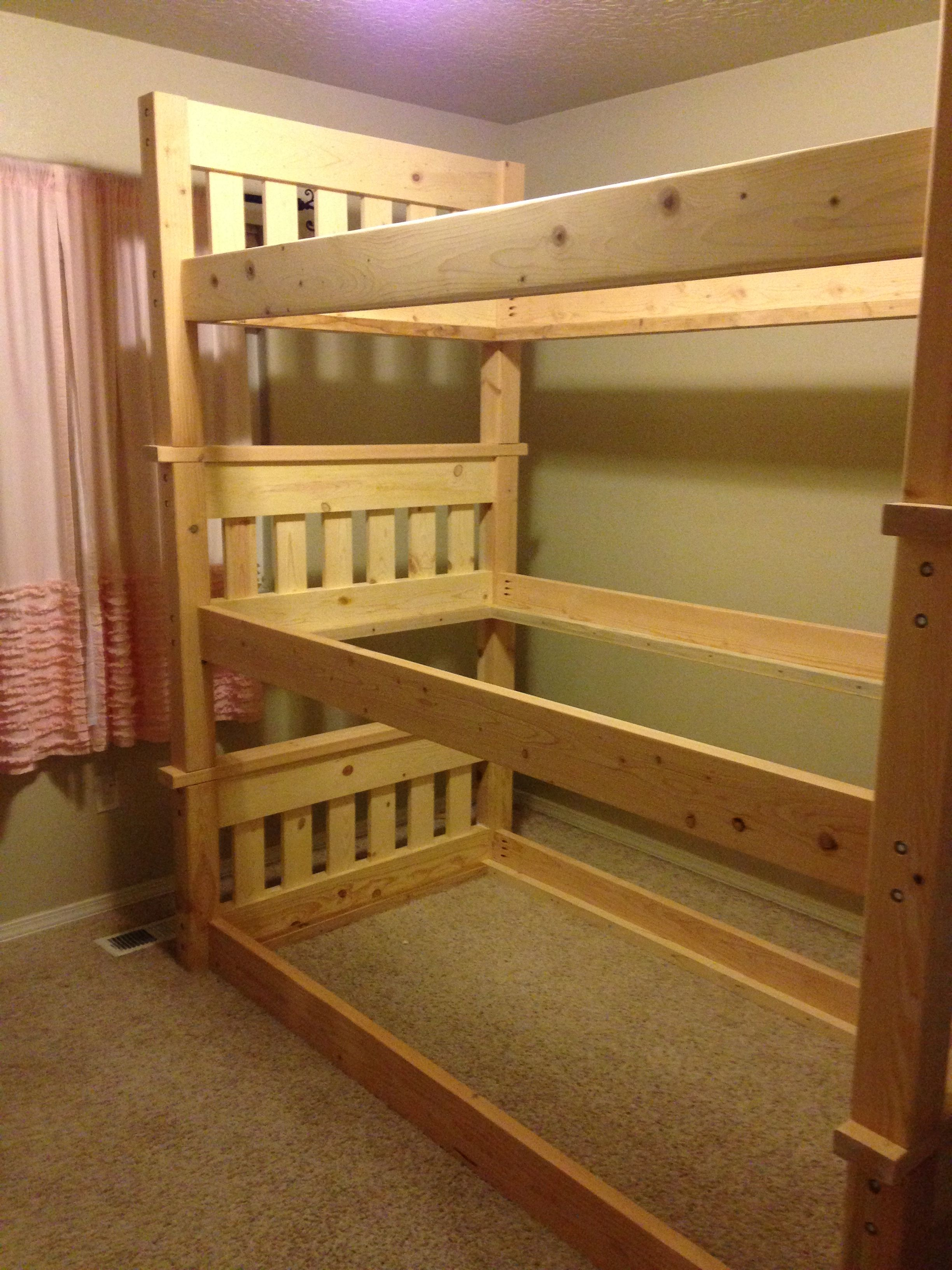 Simple Bunk Bed Triple Bunk Ana White With Images