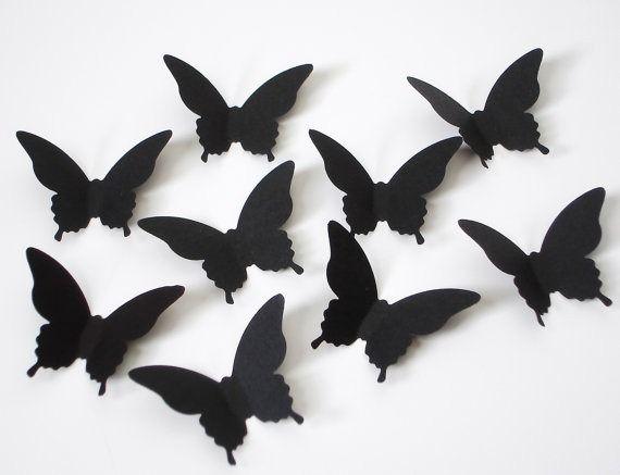 Wall decor black butterflies images