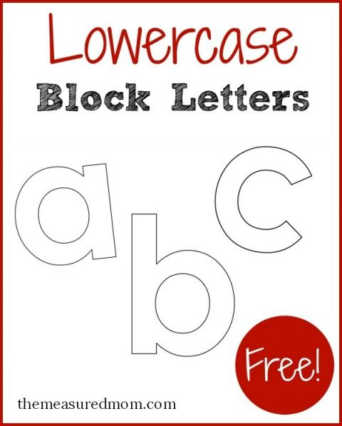 Free Printable Letters In Lowercase Alphabets Pinterest