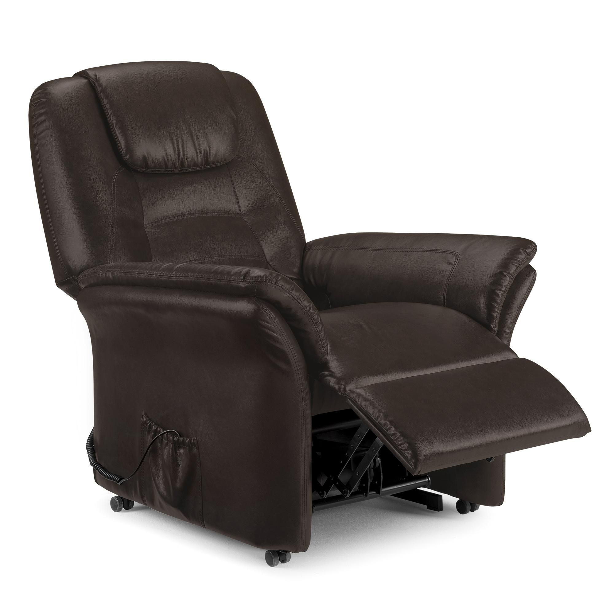 Riva Riser Recliner Leather Armchair Brown In 2020 Leather Recliner Chair Recliner