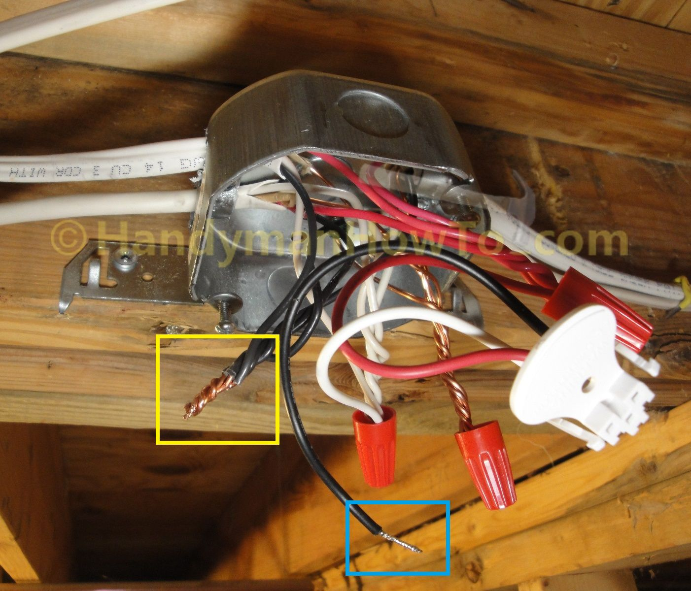 How To Install A Hardwired Smoke Alarm Photo Tutorial The Nm B 14 3 Branch Circuit Is Wired To The Main Junction Box Smoke Alarms Junction Boxes Installation,Colour Combination Exterior House Paint Colors Photo Gallery 2020