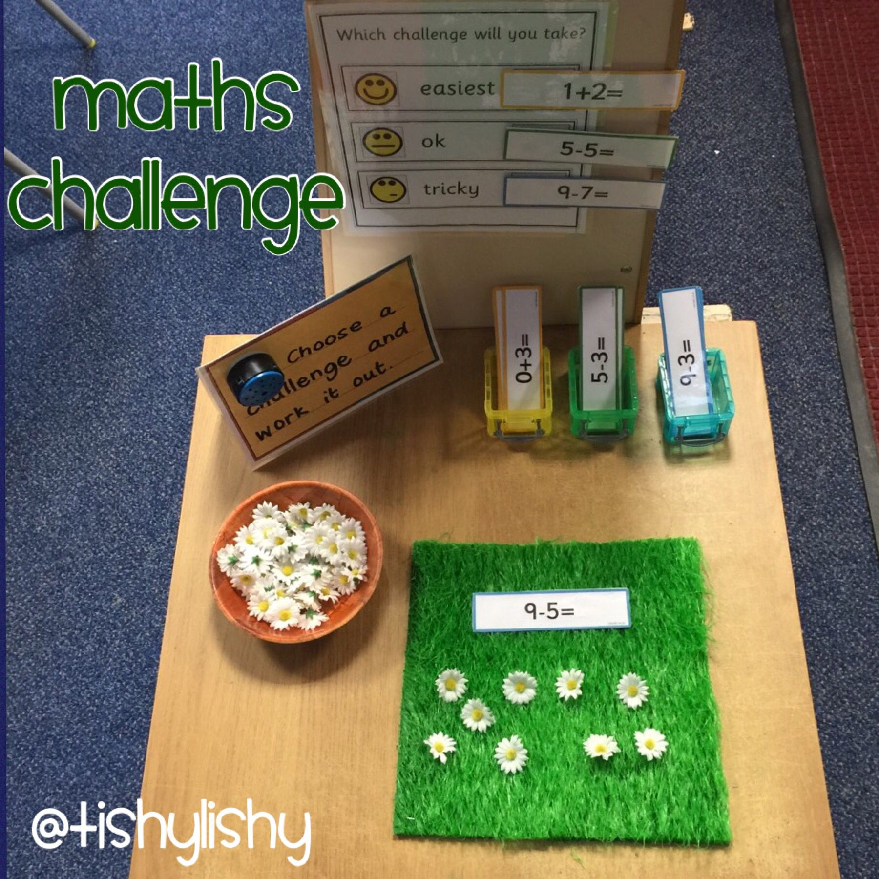 Maths Challenge Table This Activity Was An Adult Led The