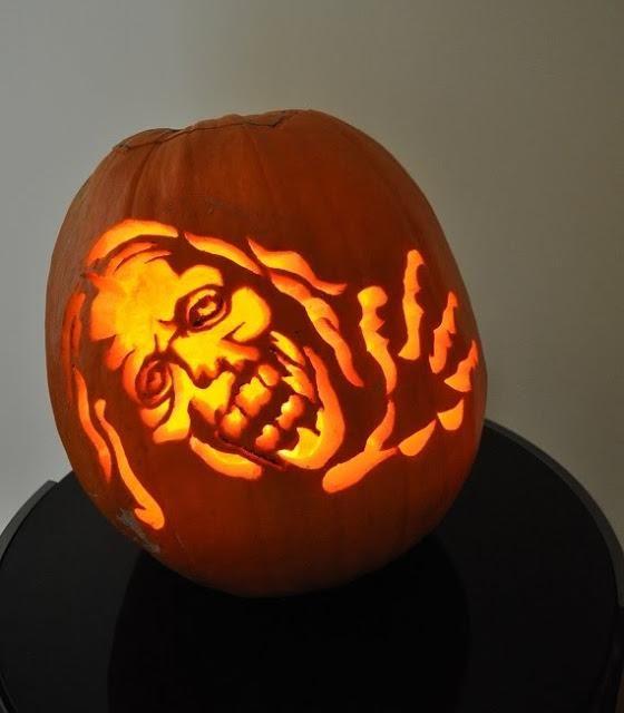 pumpkin carving template zombie  walking dead zombie in 5 | Halloween pumpkins, Pumpkin ...