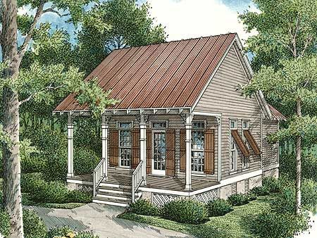 Plan 55108br Compact Cabin Cottage Style House Plans Small Cottage House Plans Small Cottage Homes