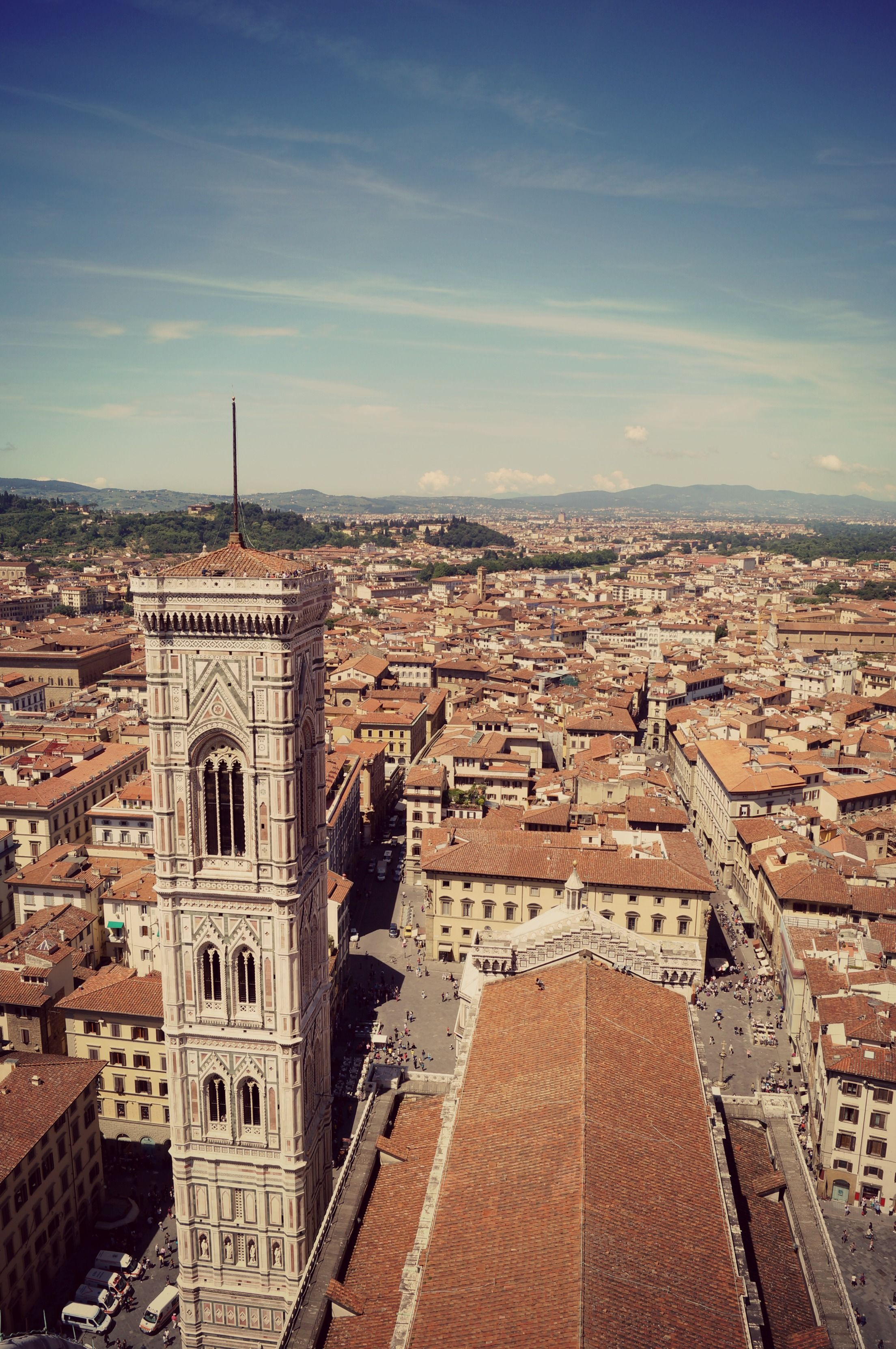 Vue du dôme de la cathédrale de Florence - Italie