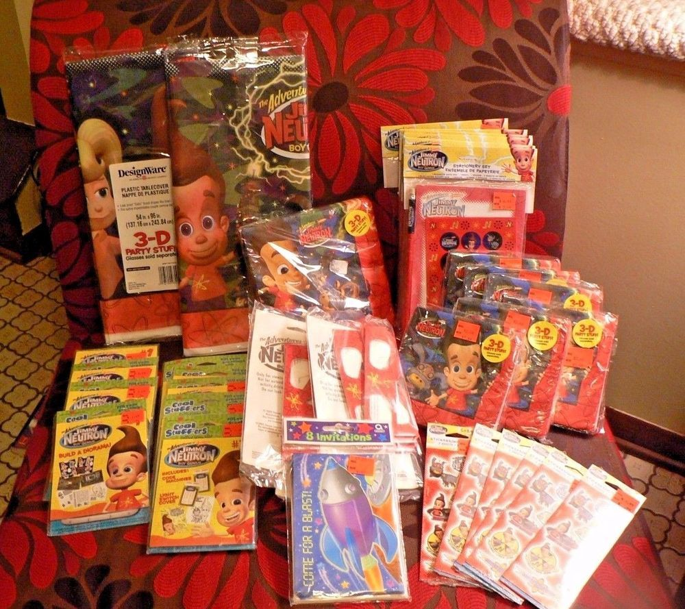 JIMMY NEUTRON Birthday Party Supplies Decor Favors Huge Lot Nerd Retro Funny #AmericanGreetings #BirthdayChild