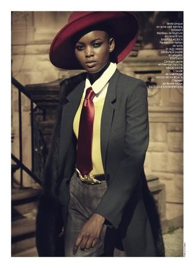 Flaviana Matata & Nykhor Paul - French Revue des Modes  F/W 2013 (part 1)  Thierry LeGoues (Photographer)  Marcell Rocha (Fashion Editor/Stylist)  Mayia Alleaume (Makeup Artist)