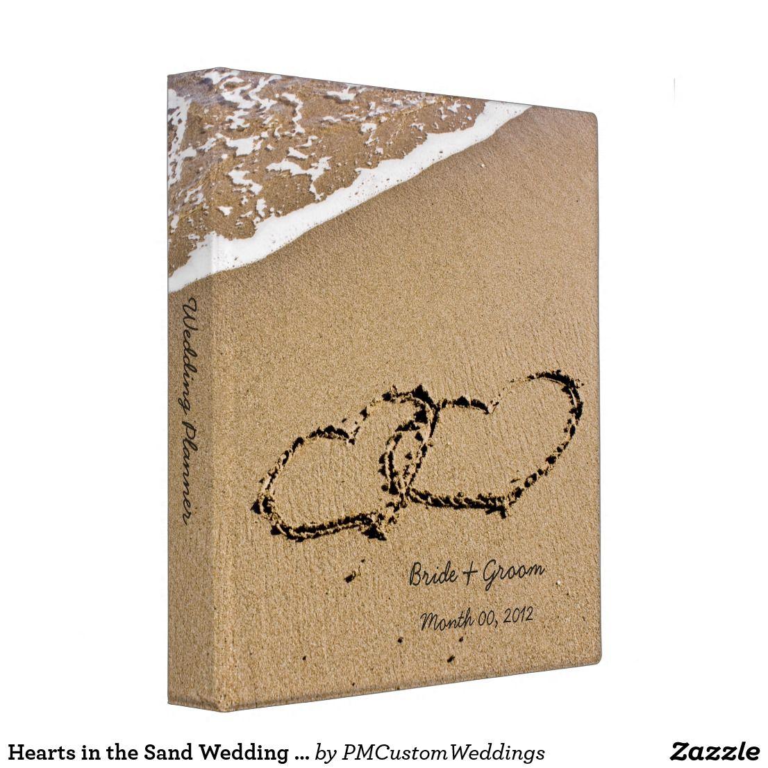 Hearts In The Sand Wedding Planner Binder