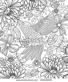 Coloring Pages Beautiful Birds And Scenery