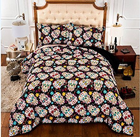 Halloween Bed Sheets | Pin By Awesome Sugar Skulls On Bedding Sets Pinterest Bedding