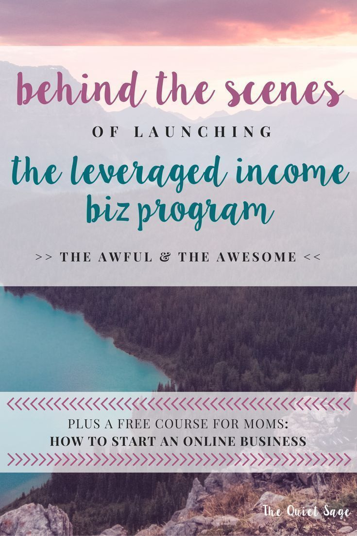 Behind The Scenes Of Launching My Leveraged Income Program
