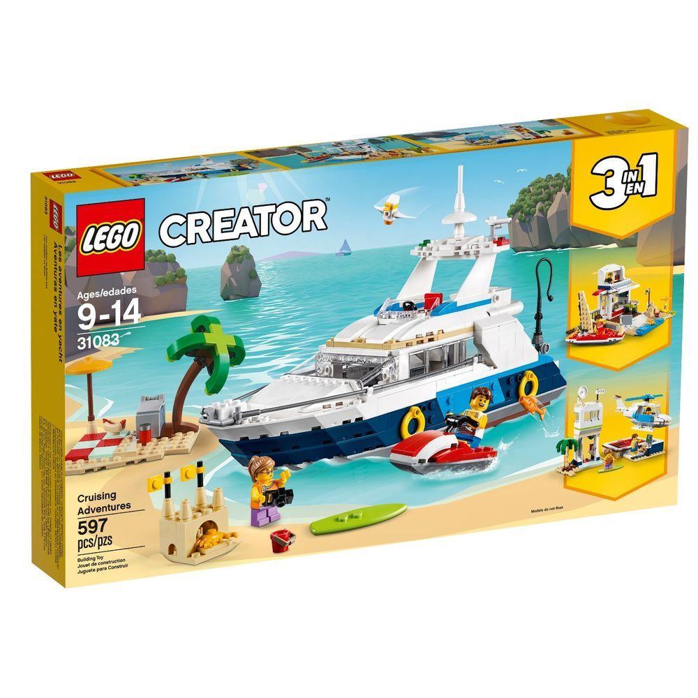 Lego Creator Cruising Adventures 3 In 1 Building Blocks Kids Toy Boat Ship 31083 Lego Lego Creator Shop Lego Lego