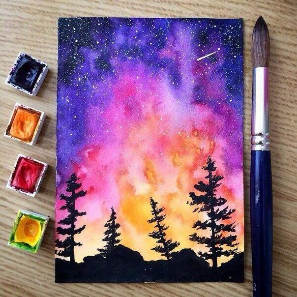 Pinterest Situkha Arte De Acuarela Pintura De Galaxias