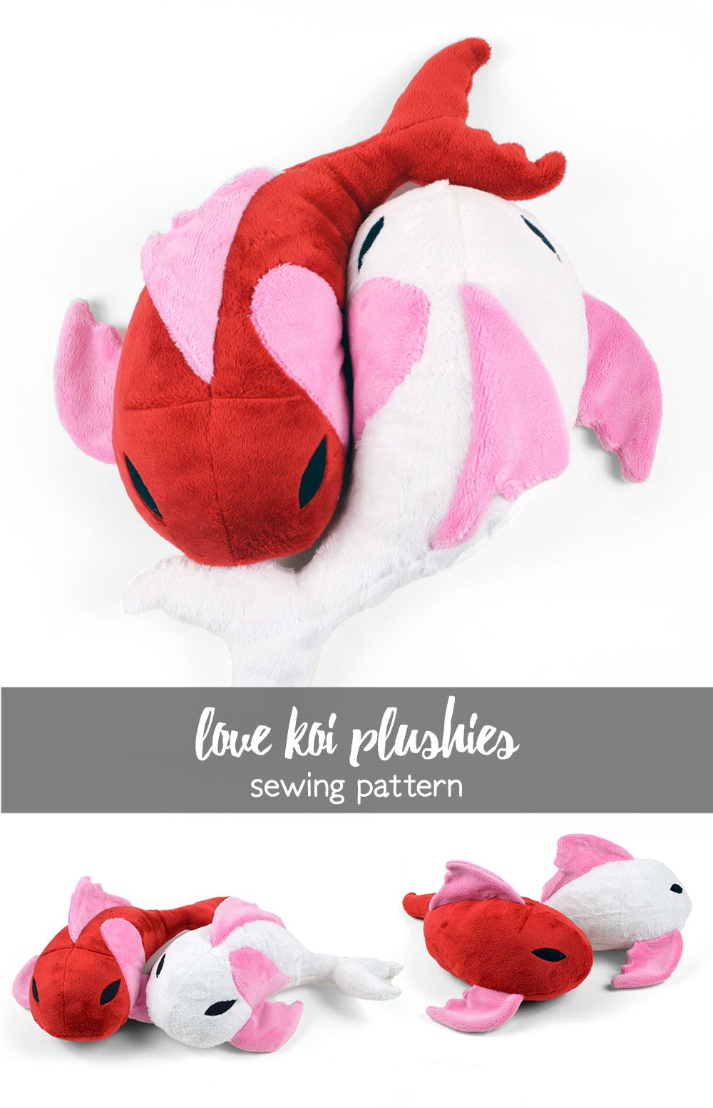 Free sewing tutorial: a pair of yin-yang style koi plushies for ...