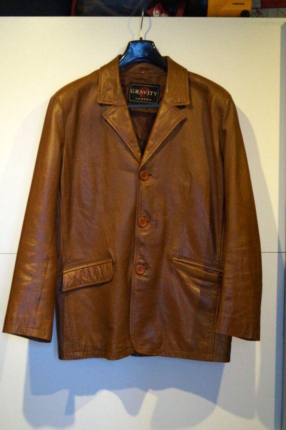 Vintage Mens Wear-Light Brown Suede Jacket-1980s Men Coat