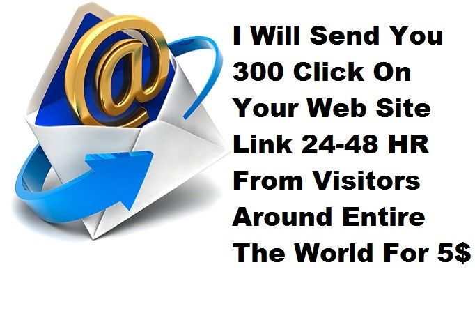 selfmadebosss: send You 300 Click On Your Web Site Link for $5, on fiverr.com