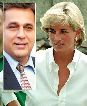 Diana Pictured Shortly Before Her And Inset Former Lover Hasnat Khan