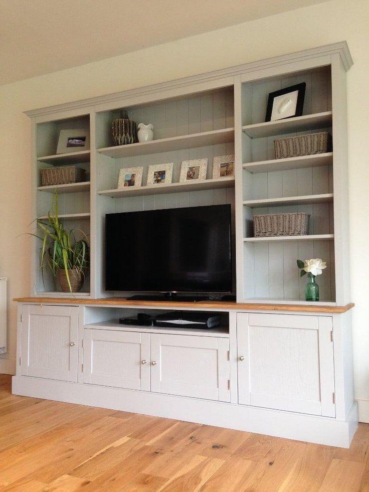 Shaker Style Built In Media Wall Living Room Dresser