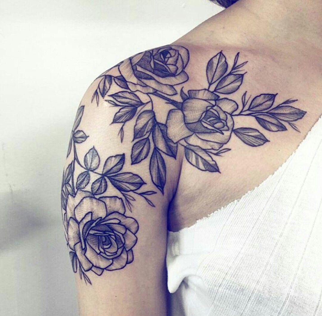 Flower Shoulder Tattoo: Shoulder Tattoos For Women