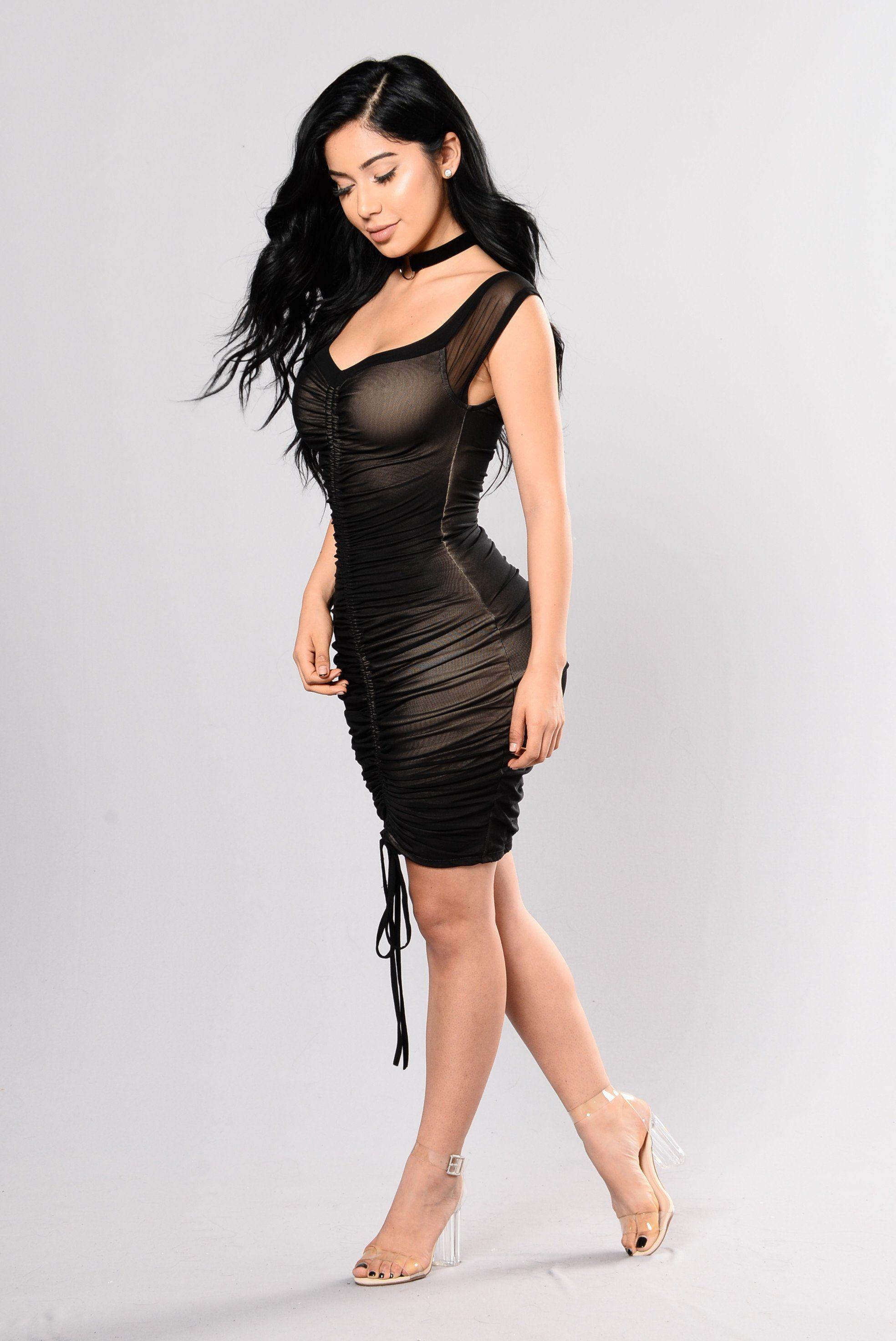 Dresiree dress black mesh dress black mesh and nude