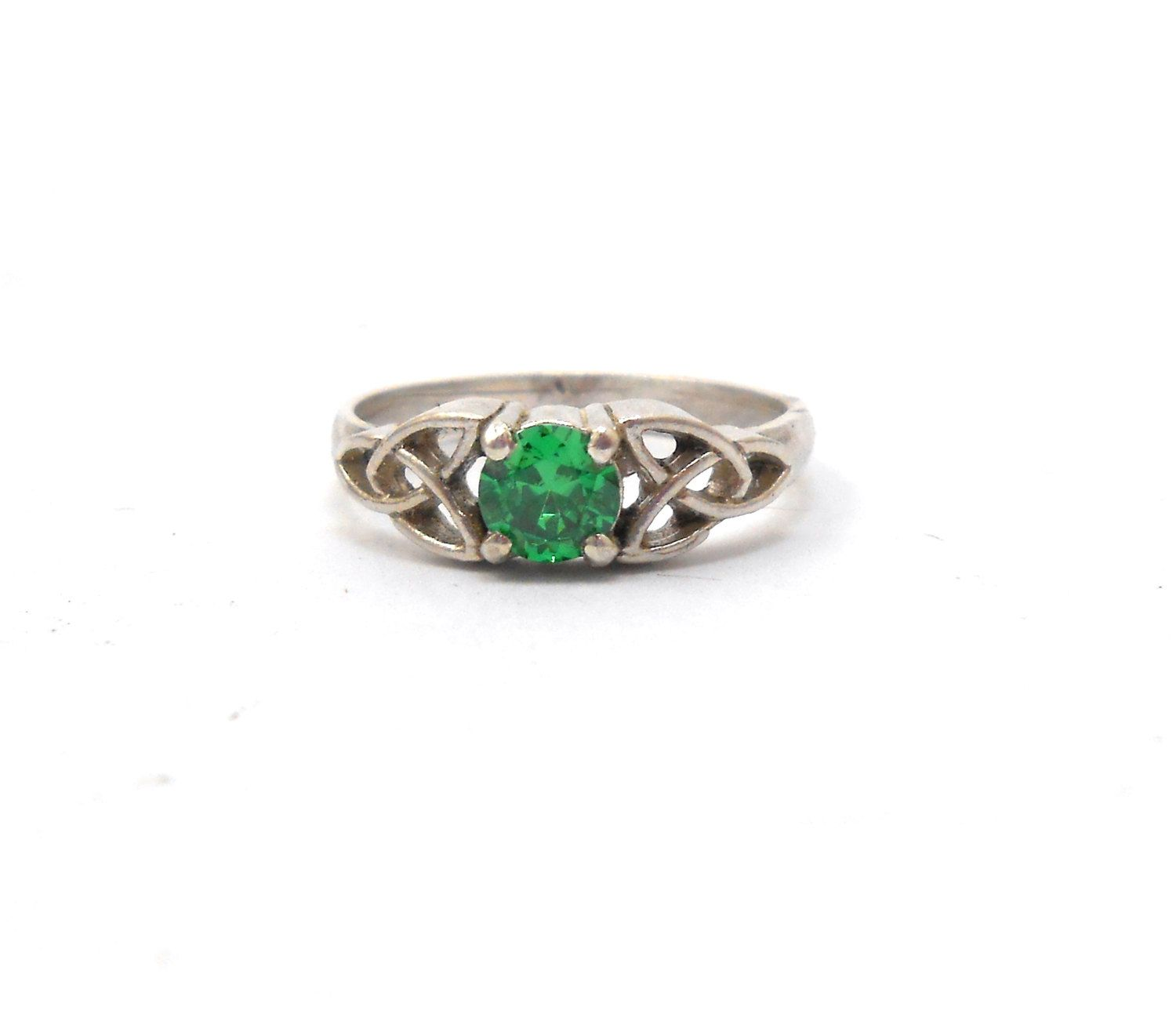 green ring emerald full gemstone rings eternity brilliant