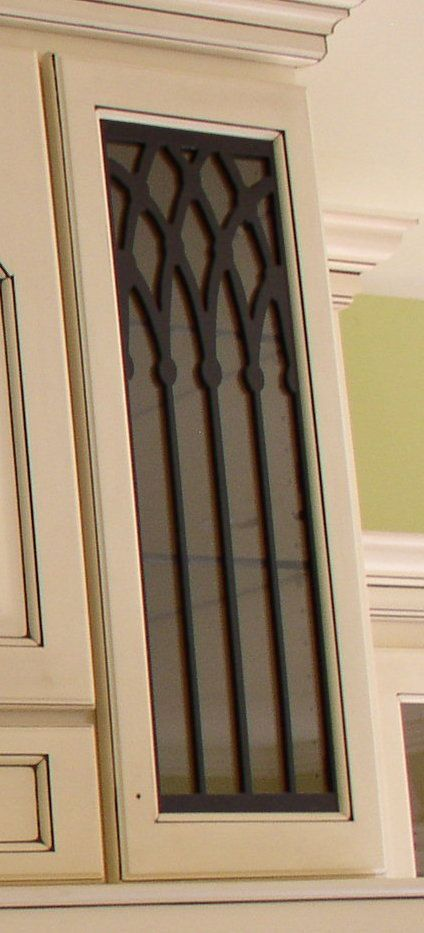 Levi Cabinet Door Panel Insert In Decorative Iron Available In