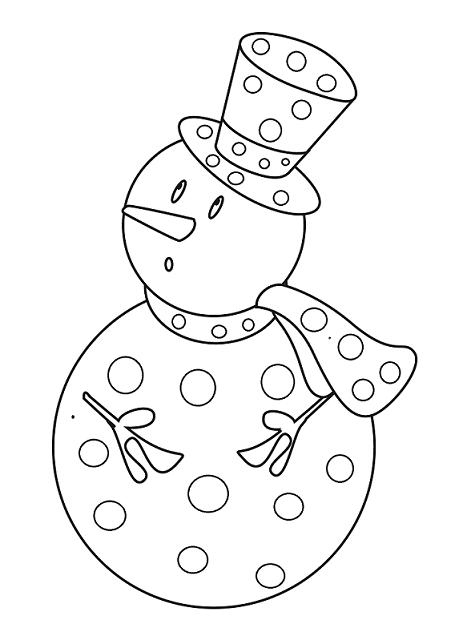Janna coloriage du bonhomme de neige dessin gommette - Bonhomme de neige a colorier ...