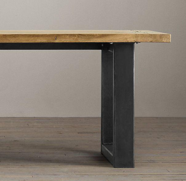 mesa comedor madera forja