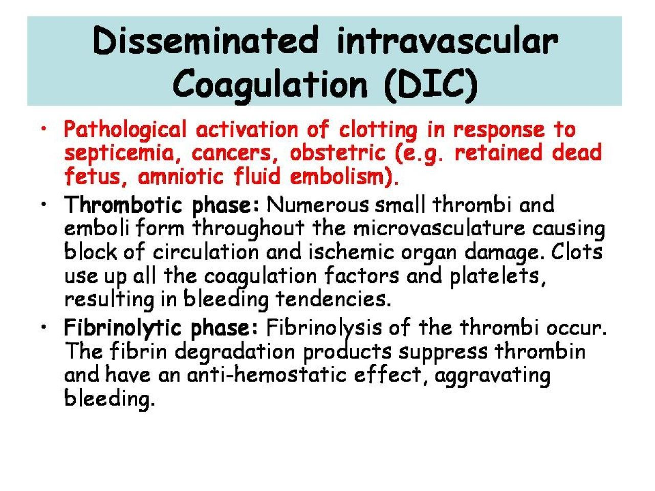 Disseminated Intravascular Coagulation What You Need To Know In
