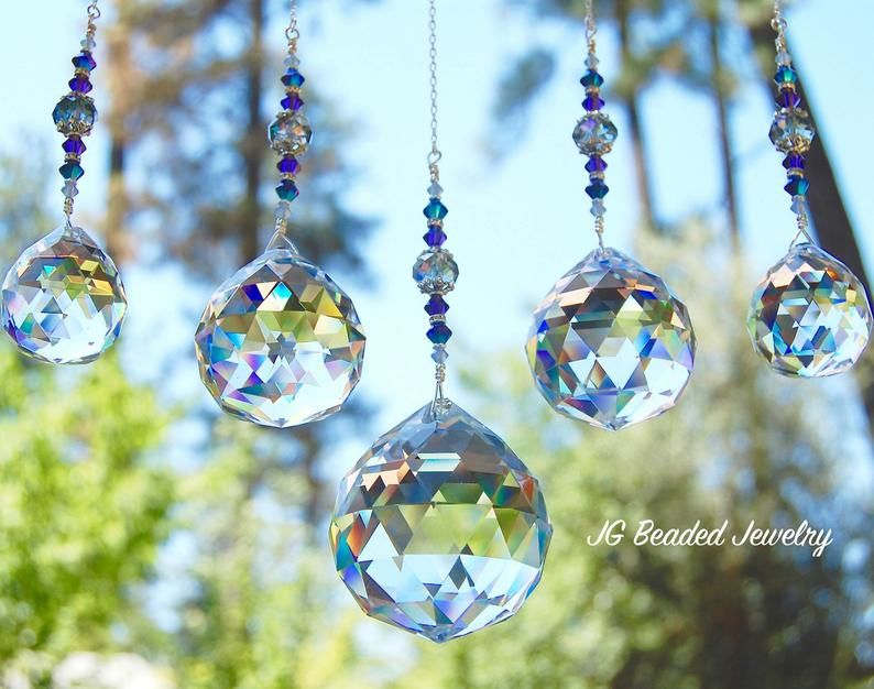 Anniversary Gift for Wife Ceiling Fall Pull Large Faceted Ball Prism for Window Crystal Hanging Sun Catcher Rainbow Suncatchers