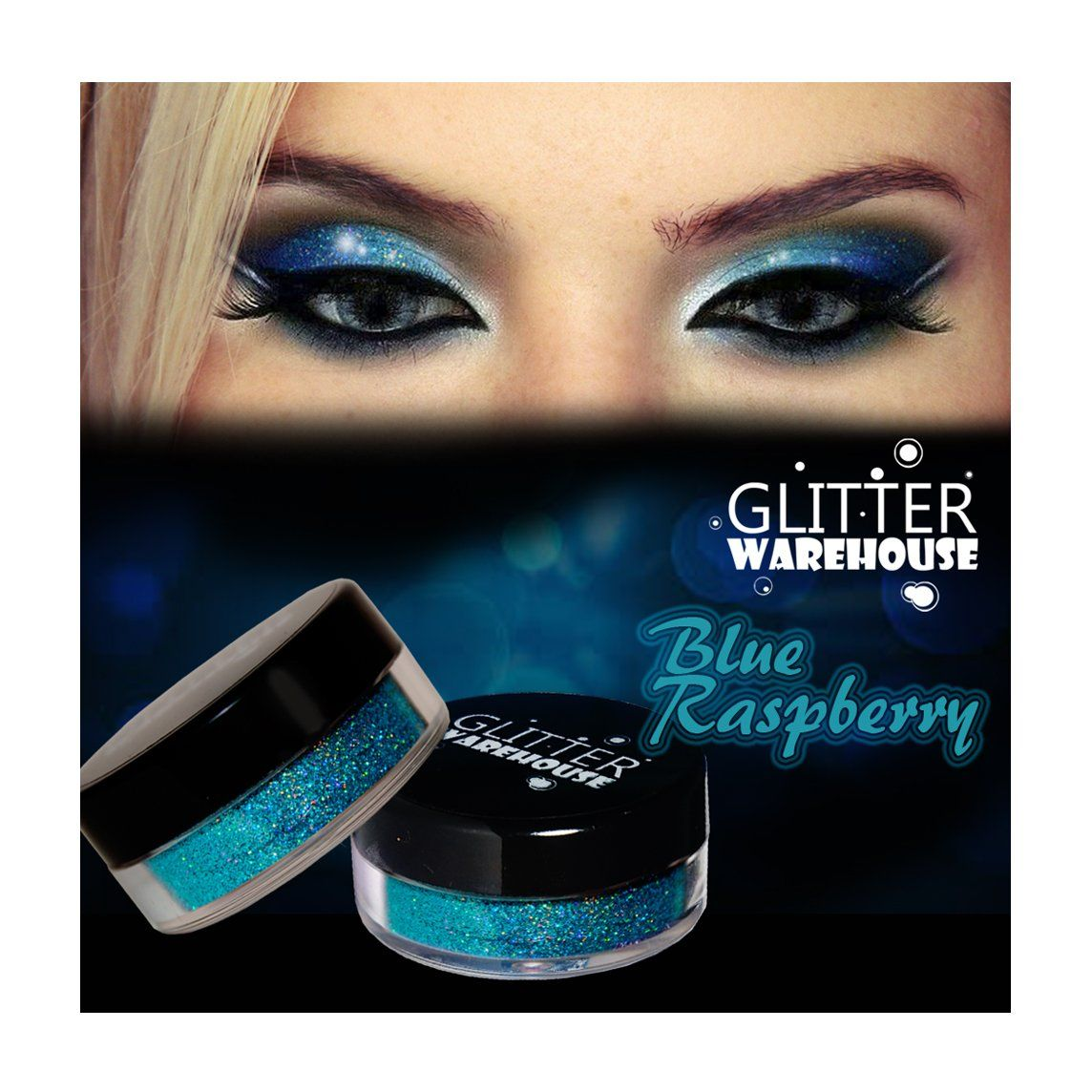 GlitterWarehouse Blue Raspberry Holographic Cosmetic Loose